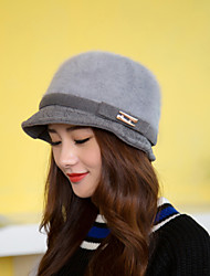 Women Metal Accessories Rabbit Material Hat LD00055