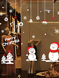 Window Stickers Window Decals Style Christmas Small Snowman Window Glass Decoration PVC Window stickers
