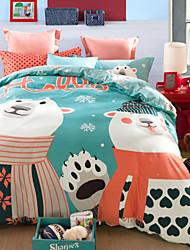 Bears print duvet cover Sets 100% Cotton Bedding Set Queen/Double/Full Size