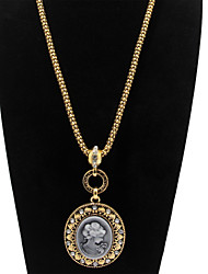Madonna Mother of God Notre Dame Virgin Mary Alloy Statement Pendant Necklace