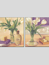 Oil Paintings Flower Style , Canvas Material with Stretched Frame Ready To Hang SIZE:70*70*2PCS.