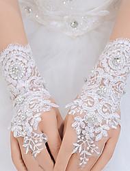 Wrist Length Fingerless Glove Lace Bridal Gloves / Party/ Evening Gloves / Flower Girl Gloves / Winter Gloves