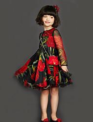Kid's Dress , Cotton Vintage / Cute / Party KT