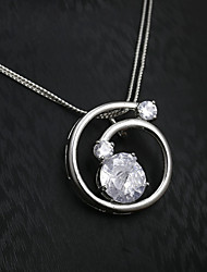 European and American fashion diamond pendant necklace Series 11 Wedding / Party / Daily / Casual 1pc