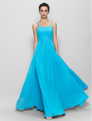 Floor-length Chiffon Bridesmaid Dress A-line Spaghetti Straps
