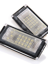 2pcs CARCHET 18LEDs Number License Plate Lights Bulb for BMW Mini Cooper R52