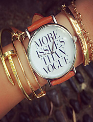 More Issues Than Vogue Watch, Vintage Style Leather Watch, Women Watches,Boyfriend Watch, Men'S Watch ,Quotes Watch Cool Watches Unique Watches