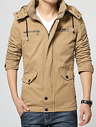 The new winter warm in the long and thick warm cashmere Jacket Mens detachable washing cotton men's hat