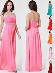 Floor-length Chiffon Bridesmaid Dress A-line Strapless
