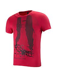 Men's Running Tops/T-shirt Camping&Hiking/Fitness/Leisure Sports/Badminton/RunningBreathable/Anatomic Design/ Soft