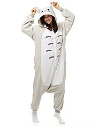 Kigurumi Pijamas Gato / Totoro Malha Collant/Pijama Macacão Festival/Celebração Pijamas Animal Branco Miscelânea Lã Polar Kigurumi Para