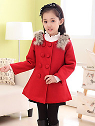 Girl's Red Jacket & Coat , Bow Polyester Winter / Fall