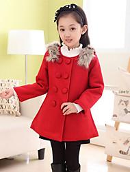 Mädchen Jacke & Mantel - Polyester Winter / Herbst Rot