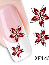 1 PCS 3D Water Transfer Printing Nail Stickers XF1459