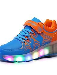ultra-light single wheel skating LED light shoes