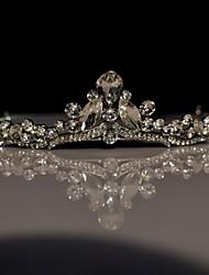 Women's Flower Girl's Rhinestone Alloy Headpiece-Wedding Special Occasion Tiaras 1 Piece
