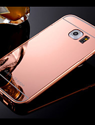 Frame and Plated Compact Mirror Backplane  Phone Case for Samsung Galaxy S4 S5 S6 S7 edge pLUS