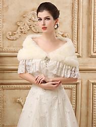 Wraps casamento / Xales em Pêlo / Xales Xales Sem Mangas Cashmere imitação Marfim Casamento / Festa Canoa Strass