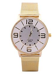 l.west relógio cinto de malha de metal moda