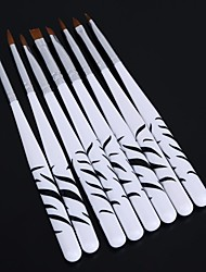 1Set Zebra Nail Carved Crystal Pen Nail Art Tools(8pcs/set)