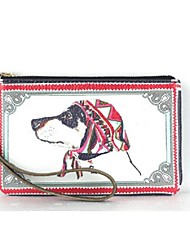 Personality animal print leather hand bag/ phone bag /change purse——The dog