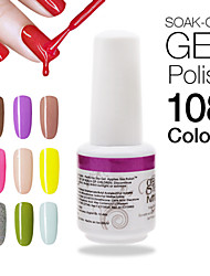 1pcs High Quaiity Nail Gel Polish Soak Off 9ml Nail Art Design UV Long Lasting 108 Gorgeous Colors Available