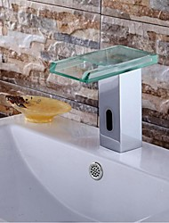 Wasserfall / Sensor Waschbecken Wasserhahn Zeitgenössisch Chrom Messing
