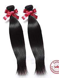 Tissages de cheveux humains Cheveux Malaisiens Droit 12 mois tissages de cheveux