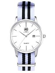 AIBI® Men's Fashion Watch Calendar Water Resistant Fabio New York Silver Wrist White Watch For Men Wrist Watch Cool Watch Unique Watch With Watch Box