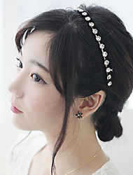 Women Fashion Korean Style Rhinestone Hair Chain Hair Accessories Jewelry