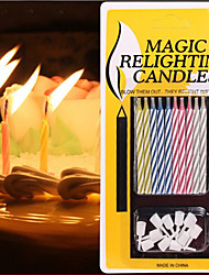 Creative Magic Colored Thread Birthday Candle Blew Out The Candle 10Piece