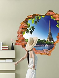 3D Sticker  Eiffel Tower Wall Stickers for Dining Room Kid Room Decorations Wall Decals Wall Art Decor