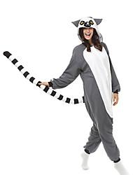 kigurumi Pyjamas Singe Collant/Combinaison Fête / Célébration Pyjamas Animale Halloween Gris Mosaïque Polaire Kigurumi Pour Unisexe