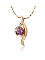 Casual Gold Plated / Gemstone & Crystal / Cubic Zirconia Pendant Necklace