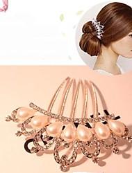 Rich Long Diamond Flower Hair Clip