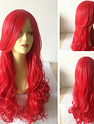 Cosplay Beautiful Red Sythetic Wave Wigs Hair Extensions Girls' Lovely