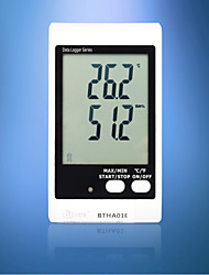 Bside Btha01e Tempereature Humidity Data Logger With Large Display And Sound Light Alarm(Sense Outside)
