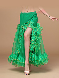 Belly Dance Bottoms Women's Performance / Training Chiffon Ruched 1 Piece Fuchsia / Green / Red / Royal Blue / White