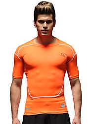 Vansydical® Men's Running Tops Running Breathable Orange Others Sports Wear
