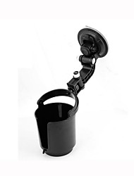 Automotive Black Plastic Drink Can Bottle Adjustable Holder w Suction Cup