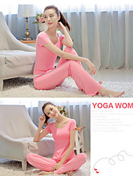 Vangona  ® Yoga Clothing Sets/Suits Yoga Pants + Yoga Tops Breathable / Compression/ Materials Stretchy Sports Wear