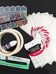 23pcs DIY ногтей маникюрный набор Набор инструментов