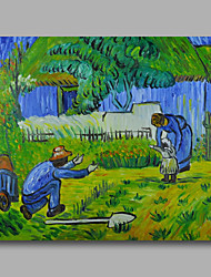 pronto para pendurar lona pintura a óleo pintados à mão esticada van Gogh abstrato primeiro passo repro um painel