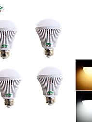 4PCS Zweihnder 600LM E27 8W SMD 2835 25 LEDs Globe Bulb Household Light (5500 - 6000K) - Warm/ White Light