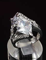 Fashion New Luxury Ring 18K Siliver Plated CZ stone Ring For Woman& Lady