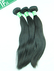 Indian Hair Virgin Hair Extension Straight Unprocessed Remy Hair Color 1B Full and Thick Bundles