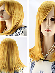 Women's Fashionable Golden Brown Wigs with Side Bang