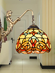 E27 220V 22*28CM 3-5㎡  European Contracted Rural Creative Wrought Iron Wall Lamp Glass Led Lights