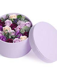 Roses Velvet Gift Box in Styrofoam Artificial Flower for Decoration,1 Box