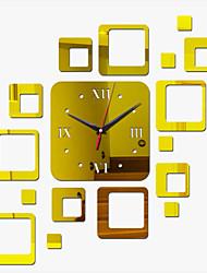 Acrylic DIY 3D Mirror Home Decor Wall Clock Mirror Surface Sticker